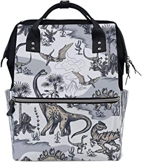 Backpack Travel Shoulder Bag Diaper Baby Mommy Bag Dinosaurs Multipurpose Backpacks for Men Women