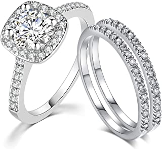 SDT Jewelry Three-in-One Bridal Wedding Engagement...