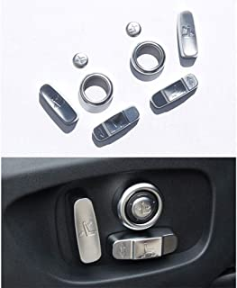 Seat Adjustment Button Trim Cover Accessories for Land Rover Discovery Sport 2015 2016 2017 2018/Range Rover/Evoque/LR5 ABS Chromeplate 8pcs