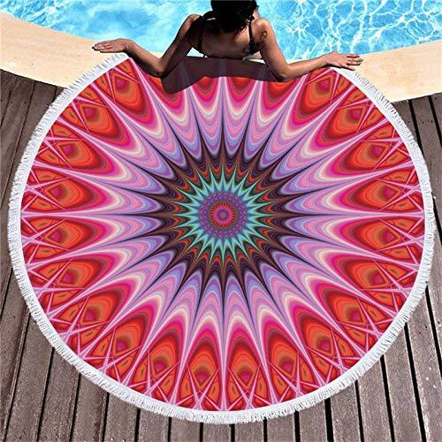 BCDJYFL Secado Rápido Toalla De Playa Patrón Creativo Rectángulo Manta De Verano Playa Compacto Resistente A La Arena Seque Rápidamente Yoga O Viajes.Diámetro: 150Cm