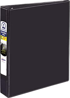 Avery Mini Durable View Binder with 1 Rings, 175-Sheet Capacity, Black, 5-1/2 x 8-1/2 (17167)