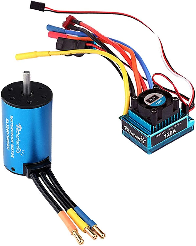 Homyl 2pcs Radio-Controlled giocattoli RC auto Accessories 120A ESC E 3660 3800KV Motore