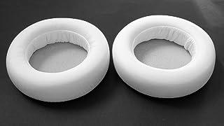 耳パッドEarpads修復レザーEarmuffクッション修理パーツfor Audio - Technica ath-ws550ath-ws550isヘッドフォン( earmuffes )ヘッドセット 95mm ホワイト