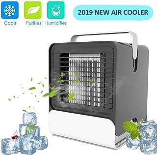 Enfriador de aire portátil portátil portátil – Mini humidificador Leakproof y purificador de aire, aire acondicionado de mesa