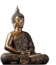Buddha Statue Decoration, Thai Buddha Statue Sakyamuni Statue Sitting Buddha Meditation God Feng Shui Ornaments
