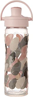 Lifefactory 16-Ounce BPA-Free Glass Water Bottle with Active Flip Cap and Silicone Sleeve, Blush
