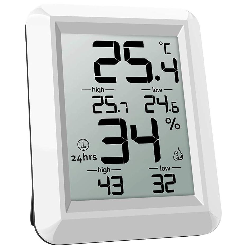 戦うシンプルさロビーIycorish 温度湿度モニター、デジタル温度計、室内温度計湿度計、液晶画面、液晶画面、最小/最大レコード、倉庫用、ホーム、オフィス、温室、ベビールーム