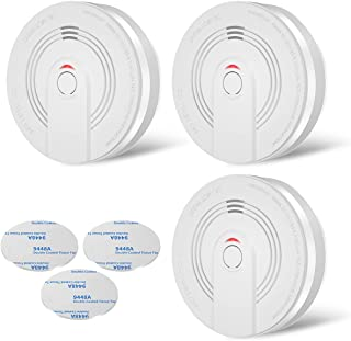 OKEAH Smoke Alarm Fire Detector with Photoelectric Sensor and 9V Battery Operated, Test Button, Easy to Install with Quick...