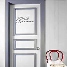 INDIGOS UG Muursticker - Dekoratie - Deur Muursticker Badkamer - Keuken woonkamer muur slaapkamer 50x16cm Darkgrey