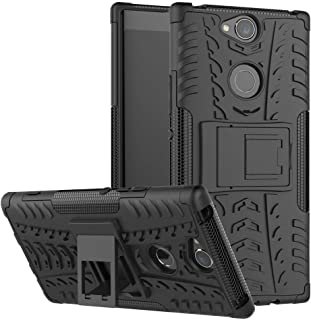 Xperia XA2 Plus Case, Ikwcase Heavy Duty Armor Tough Hybrid Shockproof Dual Layer Kickstand Protective Case Cover for Sony...