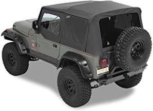 Bestop 54601-15 Black Denim Supertop NX Complete Replacement Soft Top w/Tinted Windows for 1988-1995 Jeep Wrangler