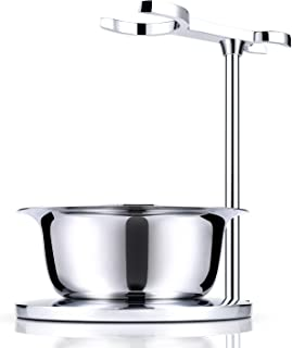 Miusco Shaving Razor & Brush Stand with Soap Bowl Set, Compatible with Manual Razor,..