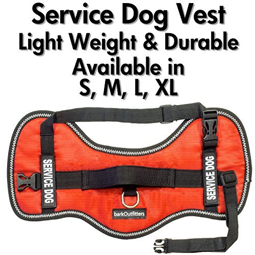 Service Dog Vest Harness - Light Weight But Durable - Available Sizes 15