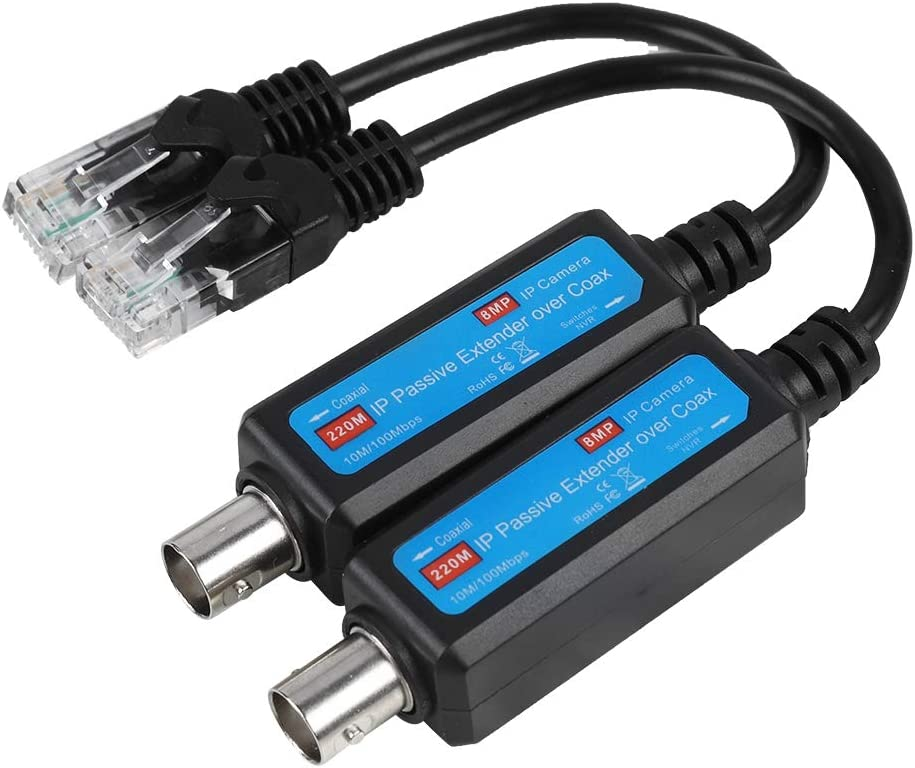 Oumij Network Transmitter 1Pair 10 Sale special price Netwo 1CH Passive IP 100Mbps Ranking TOP3