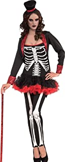 Women's Halloween Skeleton Fancy Dress Party Adult Mrs Bone Jangles Costume