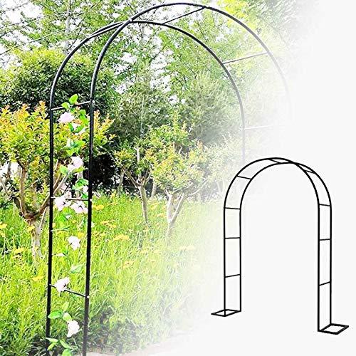WYCD Freistehend Rosenbogen, Große Torbogen Garten pulverbeschichteter Stahl, mit Stützrahmen, für Pflanzen zur Unterstützung von Rosen, Breite 120cm 140cm 180cm 200cm 230cm 280cm 300cm 350cm