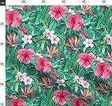 Tropisch, Hibiskus, Blätter, Palme, Dschungel Stoffe -