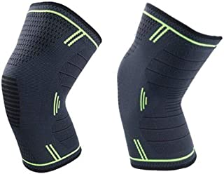1 Pair Knee Brace Support Compression Sleeves Wraps Pads for Arthritis - Basketball Yoga Pilates Bycicle - Running- Pain R...