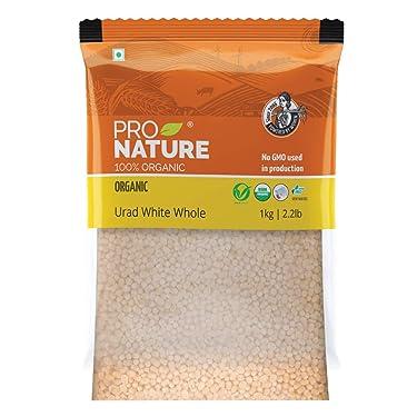 Pro Nature Organic 100% Organic Urad White Whole, 1kg