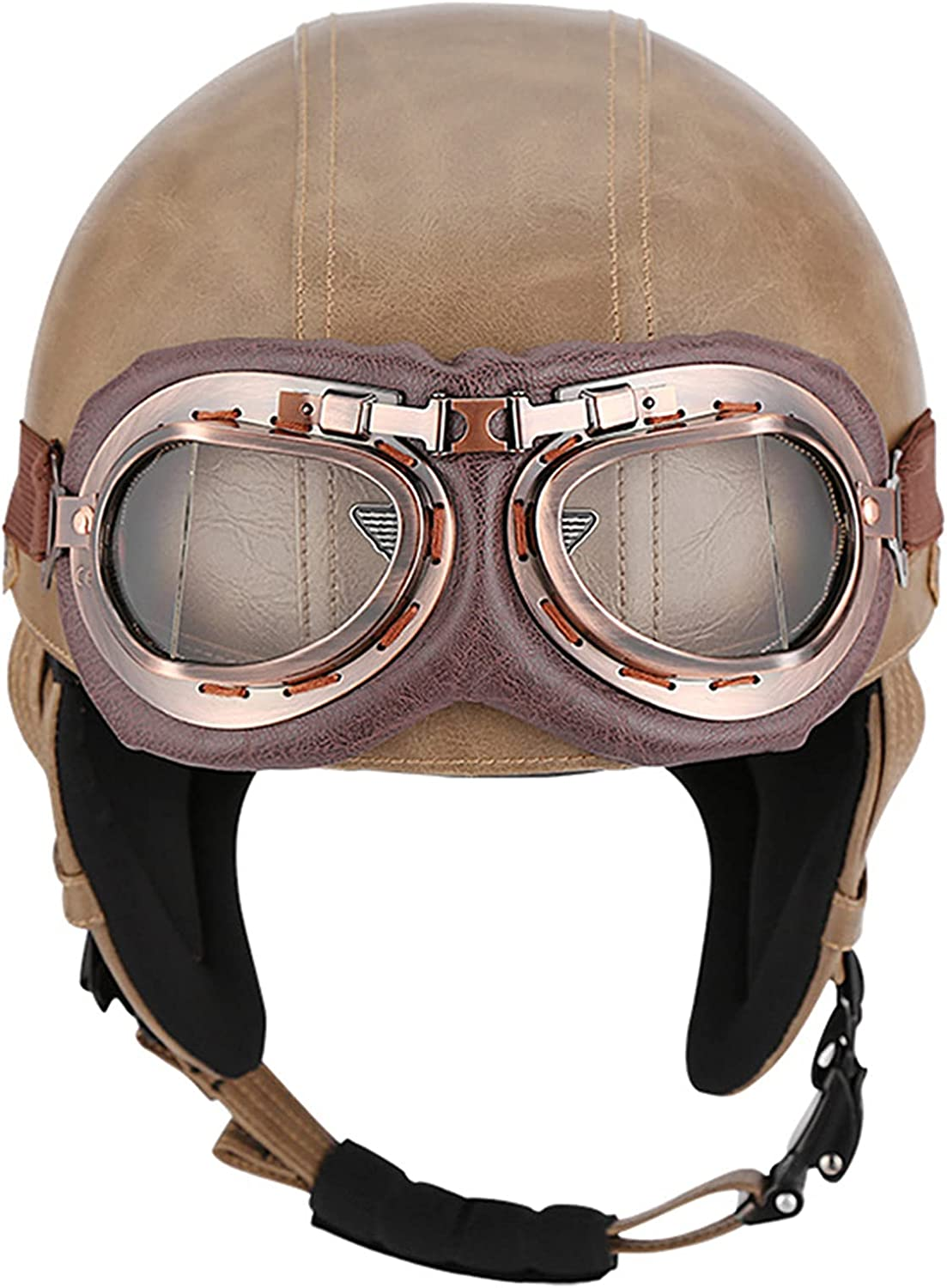 Motorcycle Half Shell Jacksonville Mall Helmet Vintage Open-Face Adults Motorbike free shipping