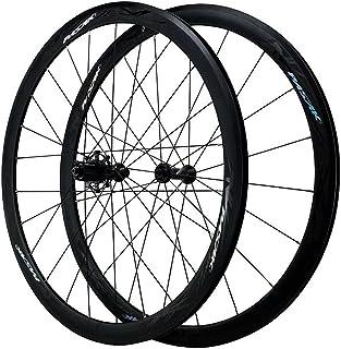 ロードバイクダブルウォールライトアロイリムクイックリリース700C自転車ホイールセットC / Vブレーキフロントサイクリングホイール+リアホイール78 9 10 1112スピード用 (Color : Black, Size : 700C)
