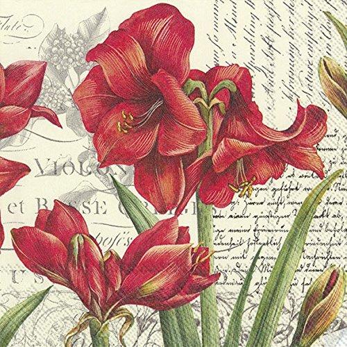 IHR LA BEAUTÉ Rouge - Servilletas de Papel (20 Unidades, 33 cm), Color Crema
