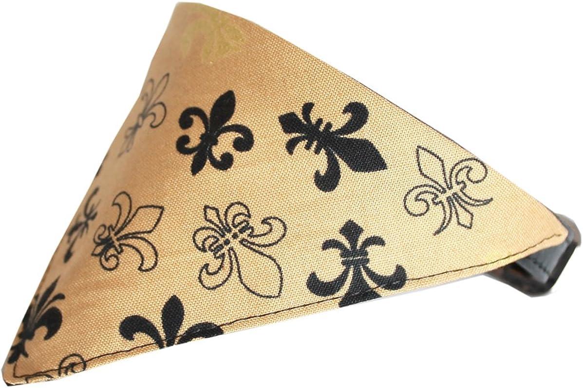 Gold Fleur De Lis Bandana Pet Collar