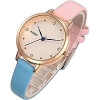 Top Plaza Women's Colorful Leather Analog Quartz Wrist Watch