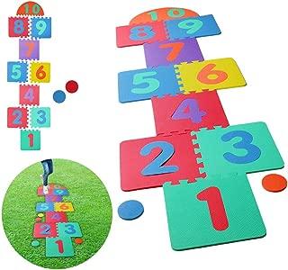 Hopscotch Playmat Foam Interlocking Puzzle Floor Mat - 10 Large Number Tiles (12