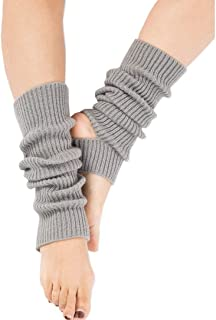 OwlGift Women Fashion Thigh Ribbed Knit Open Heel Leg Warmer for Dance Yoga Sports