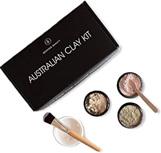 Caim & Able Australian Clay Beauty Skin Care Gift Set of Zeolite, White, Pink Clay Powder - Birthday Gifts For Women Her -...