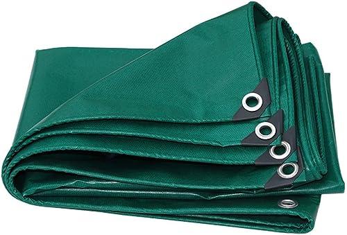 Bache Le tapis de sol en bache de polyéthylène vert couvre l'assise de tente pour le camping en terrasse en plein air, randonnée 100% étanche et prougeégée contre les UV (taille   5MX5M)
