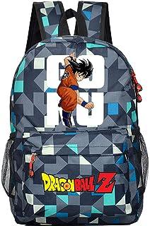 Siawasey Dragon Ball ZAnime Goku Mochila de Cosplay, mochila para ordenador portátil, escuela, bolsa