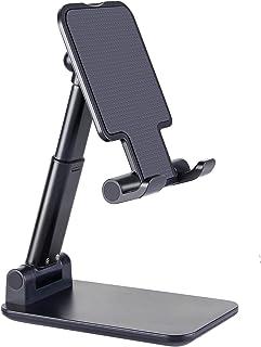 Suporte para celular, suporte de mesa portátil dobrável, altura ajustável e suporte de ângulo, compatível com smartphone/i...