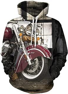 Doxi Unisex Clothing Sweater Fashion Vintage Indian Motorcycles Digital Hoodie Sweatshirts