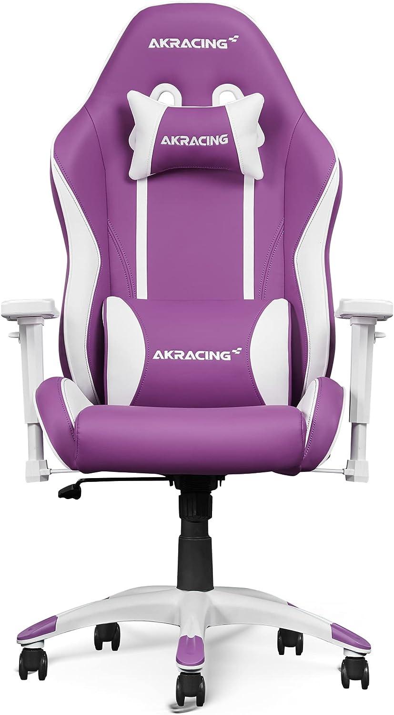 AKRacing Gaming Chair California Napa Silla para Videojuegos, Cuero sintético, Morado, 5 Jahre Herstellergarantie