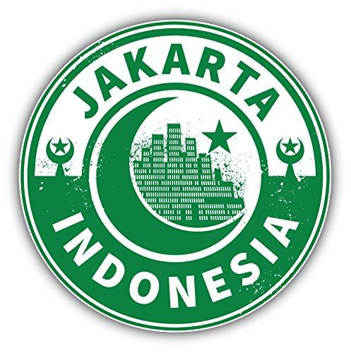 Jakarta Indonesia Travel Emblem Art Decal Bumper Vinyl Sticker