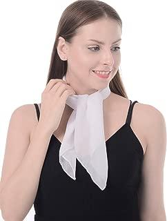 Sheer Chiffon Scarf Square Neck Head Scarf 50s Scarf for Fashion Women Mens Children (26