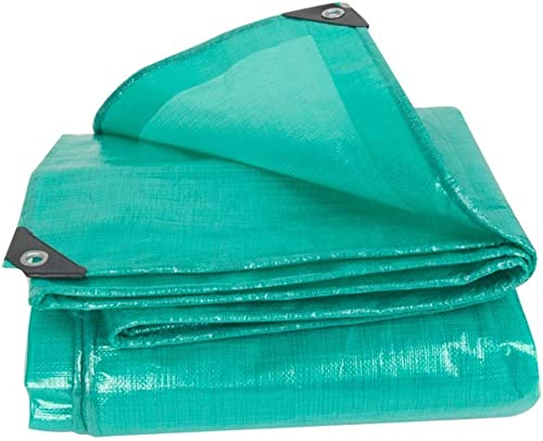 NANIH Home Tissu Anti-Pluie imperméable à l'eau épaisse bache Camion Pare-poussière Parasol extérieur Coupe-Vent Coupe-Vent Haute température Vert Anti-age (Couleur   A, Taille   6X8M)