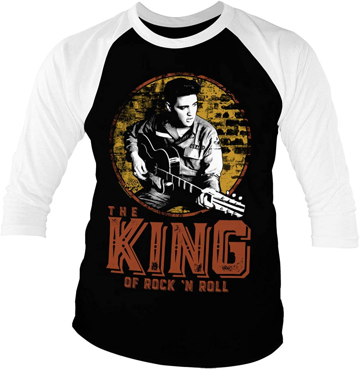 ELVIS PRESLEY MENS MUSIC T SHIRT THE KING NEW TOP GIFT W36