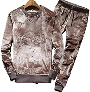 ALLAK Men's Activewear Fleece Tracksuits 2 Pieces Jacket & Pants Full Zip Jogging Sweatsuit Sportswear