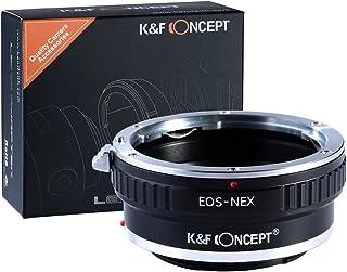 K&F Concept マウントアダプター Canon EOSレンズ- Sony Alpha Nex Eカメラ装着用レンズアダプターリング Sony NEX-3 NEX-5 NEX-5N NEX-7 NEX-7N NEX-C3 NEX-F3 Sony NEX-VG10 VG20 FS-100 FS-700専用