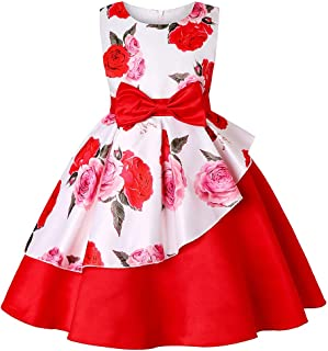 Girls Party Birthday Floral Formal Dress Kids Occasions Princess Pageant Wedding Toddler Flower Bridesmaid Holiday Dresses