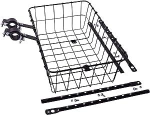 Wald #1372 Standard Medium Front Handlebar Bike Basket with 2 Piece Legs - 2.2lbs