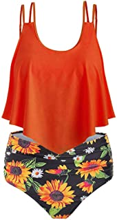 583fffadb580 Amazon.es: volantes - Naranja / Vestidos / Mujer: Ropa