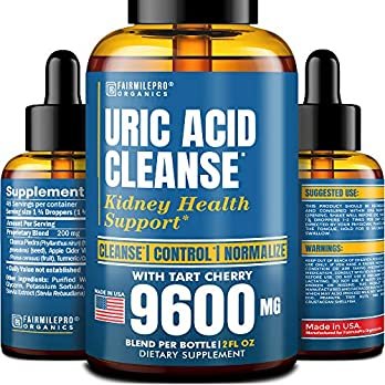 Uric Acid Cleanse with Tart Cherry 9600mg – Made in USA – Clinically Proven Natural Gоut Relief – Joint Comfort & Detoxification – Liquid Uric Acid Support Formula for High BioAvailability
