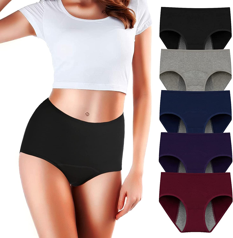 Period Underwear for Women Menstrual Panties Womens Leak Proof Mid Waist Cotton Postpartum Ladies Panties Briefs Girls