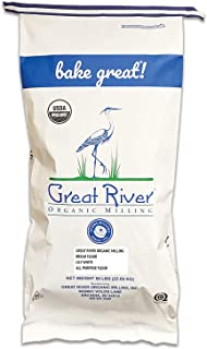 Great River Organic Milling, Lily White Bread Flour, All-Purpose, Organic, 50-Pounds (Pack of 1)