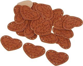 dailymall 20 peças de etiquetas de couro PU feitas à mão etiquetas enfeites - B, 1 mm