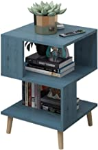 Creative Unique Square 3-Tier Shelf, Bedside End Table with Storage Rack, Sofa Side Table Storage Rack of Low Shelf for Be...